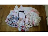 Large baby girl newborn 0-3 bundle