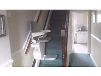 Stairlift. A Stannah straight stairlift will fit 12 tread stair.