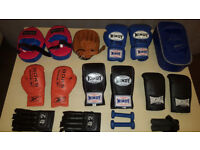 Martial Arts Bag Gloves MMA Gloves Boxing Gloves Pads Focus Pads Thai Boxing Shorts Ect. Only £35