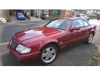 Mercedes 280 SL 2000 Maroon, Cream leather Fully loaded Genuine low mileage Hard Top /Soft Top