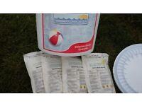 Bundle swimming pool chemicals new Intex filter