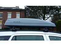 Exodus 360L 60kg Roof Box Car Top Luggage Carrier UV Protected Quick Fit - Grey