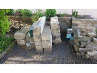 Stone reclaimed lintel, head, cill, mullions
