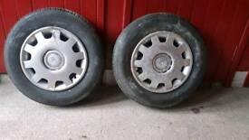 175 80 14 tyres x2