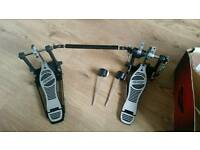 Mapex double bass drum pedal for single bass drum kit