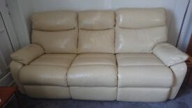 Leather lounge suite in very good condition, electric recliners, 3 seater and 2 seater.
