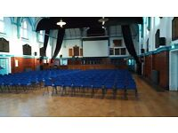 Lovely Hall for Hire at Haberdashers' Aske's Hatcham College on Sunday