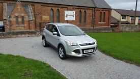 2014 FORD KUGA 2.0 TDCI ZETEC JEEP SILVER 5DR MOT-19 FFSH 2-KEYS OUTSTANDING FREE-DELIVERY CHEAP CAR