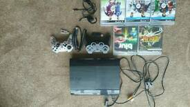 500GB Slim Ps3 with 9 Games and Controller