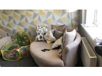 Cuddle chair and cuddle sofa