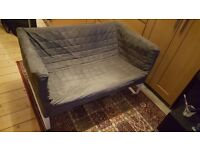 Small two seater sofa (grey)