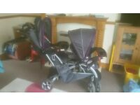 Double pushchair in perfect condition