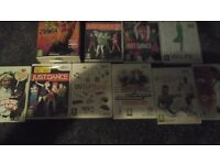 Nintendo wii games x 10 mostly dance and exercise