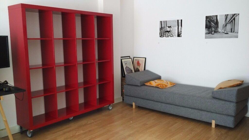 stylish ikea red kallax 4x4 cube bookshelf in mile end london gumtree. Black Bedroom Furniture Sets. Home Design Ideas
