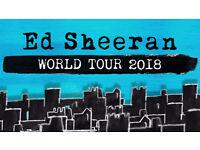 Ed Sheeran Tickets x 4 - Thu 21st June 2018 - Cardiff, Principality Stadium