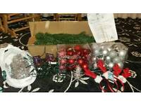 Artificial Christmas tree 4ft + decorations + lights
