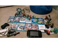 Wii u premium bundle with skylanders, lego dimensions, disney infinity, and games