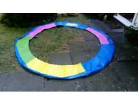 New Rainbow colour 8ft trampoline pad surround