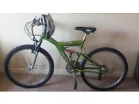 Apollo Guru Mountain Bike with Helmet, Lock and Pump
