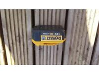 BARGAIN DEWALT XR 18V LITHIUM BATTERY EXCELLENT CONTION ONLY £10 BE QUICK