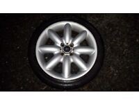 2x BMW Mini Cooper Alloy Wheels with tyres - 205/ 40 / 17 84v - 6mm thread
