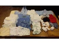 Various baby boy clothing ranging from 0-3 months up to 4 years