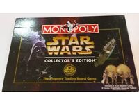 Star Wars monopoly board game - very good condition