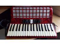 Bellini 80 Piano Accordion and case
