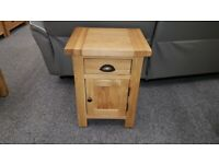 Brand New BESP-OAK Boston Select Oak 1 Drawer 1 Door Bedside Tables £99 Each