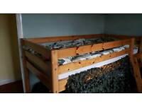 Cabin style wooden bedframe