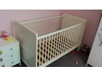 White Cot/Bed with Matters