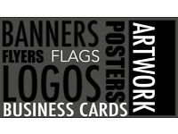 Banners, Flyers, Posters, Business Card Printing and Design Services