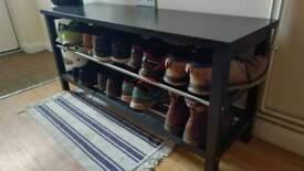 Bench shoe rack