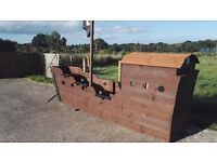 Pirate ship 14 foot long with seats and wheel great for the garden joiner made new