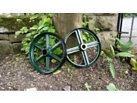 Decorative cast metal wheels