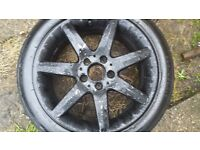 merc 17 inch alloy wheels one tyre good other 3 no good would benafit from a respray if ur fussy