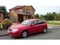 57 plate subaru impreza 4WD 80,000k F.S,H. LONG MOT IMMACULATE INSIDE & OUT DRIVES LIKE NEW 2 KEYS