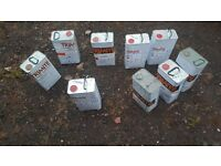 thinners,hardener, (job lot of 9 cans) lot 2