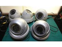 5x Colour Infra-Red IR CCD DTV SD HD Metal Dome Security Camera PAL 12V
