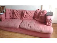 FREE big pink 3 seater sofa