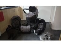 BABYSTYLE OYSTER travel system / pram vogue stars Ltd edition