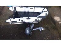 2.3m Rib Boat + 2.5HP 4-stroke Yamaha £650 - Great condition