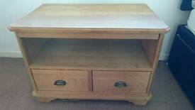 Solid wood (oak) tv unit