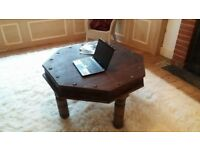 Beautiful dark wood indian style coffee table