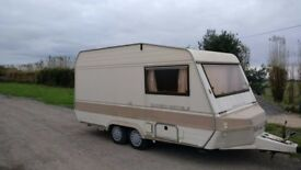 Bessacarr Cameo 420 GLE Twin Axle caravan. 2 Berth with Awning