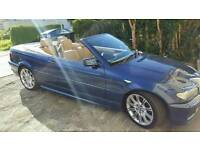 STUNNING LOW MILEAGE 2005 BMW M-SPORT CONVERTIBLE E46 HPI CLEAR FULL SERVICE HISTORY LONG MOT