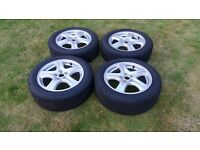 "205/55 16"" Alloy wheels fitted with winter tyres. Will fit 2010 model Subaru Impreza 2.0D."