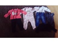 Bag of baby girl clothes 6-9months