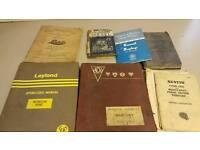 Job lot old HGV commercial mechanical books
