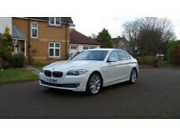 2013 13 BMW 5 SERIES 2.0 520D SE 4d AUTO *WHITE*PART EX WELCOME*FINANCE AVAILABLE*WARRANTY*